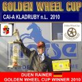 GOLDEN WHEEL CUP WINNER TEAM DRIVING 2010 DUEN RAINER GER he has won 1.200 EURO and the Golden Wheel CUP TROPHY in GOLD: CAI-A ALTENFELDEN 2009, CAI-A KLADRUBY 2009 and CAI-A KLADRUBY 2010 FINAL PLACE was the Golden Wheel CUP Partner 2009 & 2010 FOUR IN HAND DRIVING.