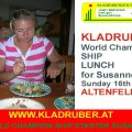 AUSTRIA , Kladruber World champions SHIP LUNCH for Susanne,Roast Pork with pickled Cabbage, meal dumplings and potatoes...the best lunch for the Final Day´s before the World Champion ship<br />