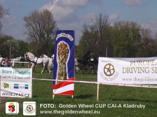CAI-A Kladruby Golden Wheel CUP Partner for Single Pairs and TEAMs 2009 Thanks a lot to the CAI-A Management and national Stud to support the  Golden Wheel CUP Idea so strong.  www.nhkaldruby.cz