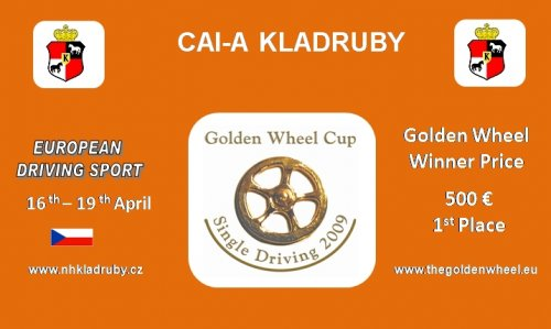 Kladruby Stud is 2009 Golden Wheel CUP Partner for Single Driving.
