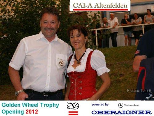 Main Sponsor Golden Wheel Trophy 2012 Mercedes Benz Oberaigner with Johanna.
