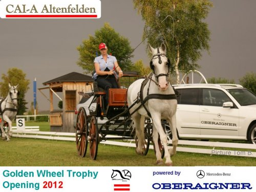Sussane Leibetseder leads the CAI-A Opening 2012 Show Programm, 4th Place World Champion Ship Single in Polen 2008