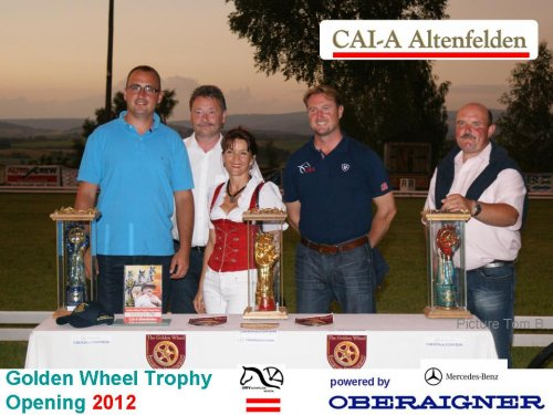 CAI-A Altenfelden 2012  Winner of 2011 from left.