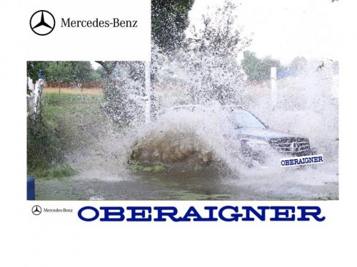 Mercedes Benz M Class in ALTENFELDEN Golden Wheel Trophy Event Water Opstacle ,